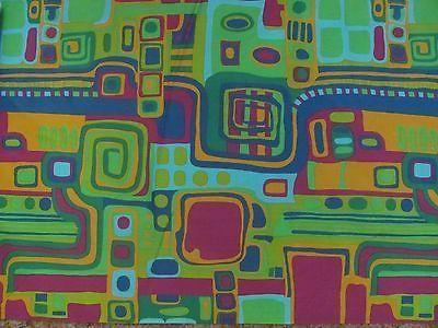 Mid Century Retro Abstract Fabric Great Retro Deign per Yard 17 Yards Avail | eBay