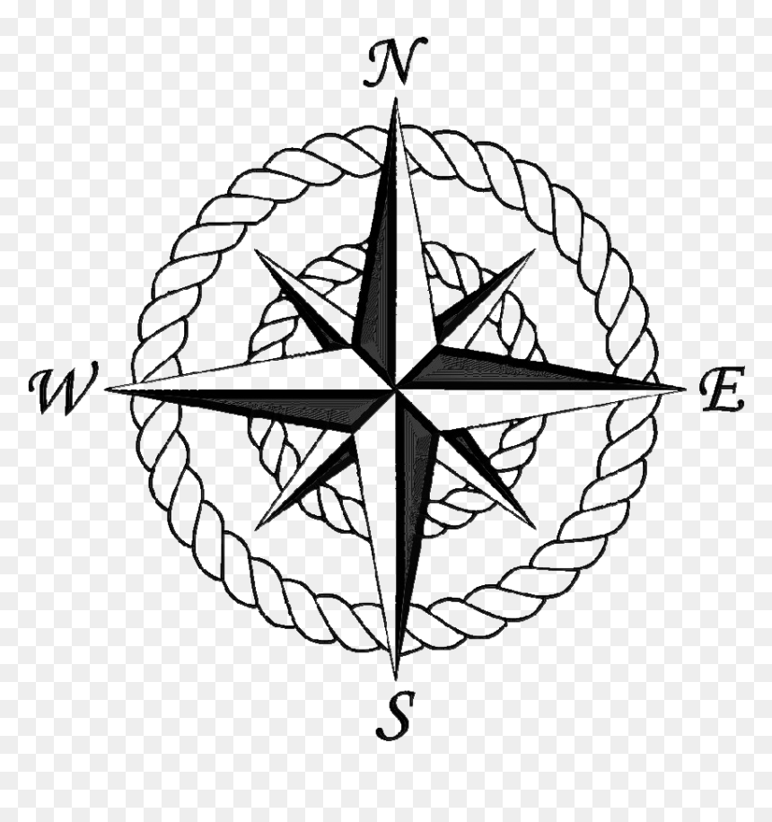 Transparent Compass Rose Clipart Compass Rose With Rope Hd Png Download Is Pure And Creative Png Image Uploade Rose Clipart Compass Rose Compass Rose Design