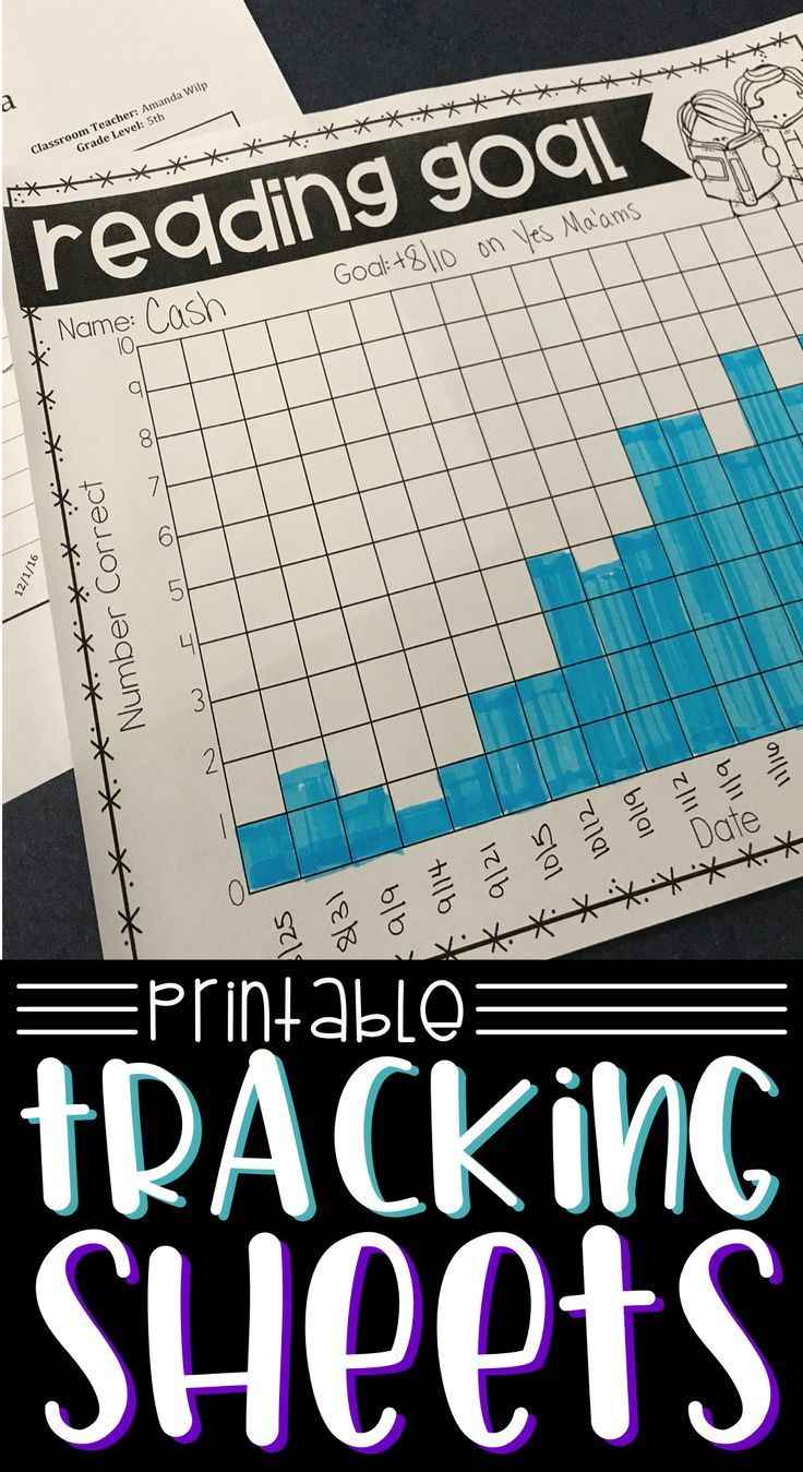 Progress Monitoring Tracking Sheets | Pinterest | Data binders ...