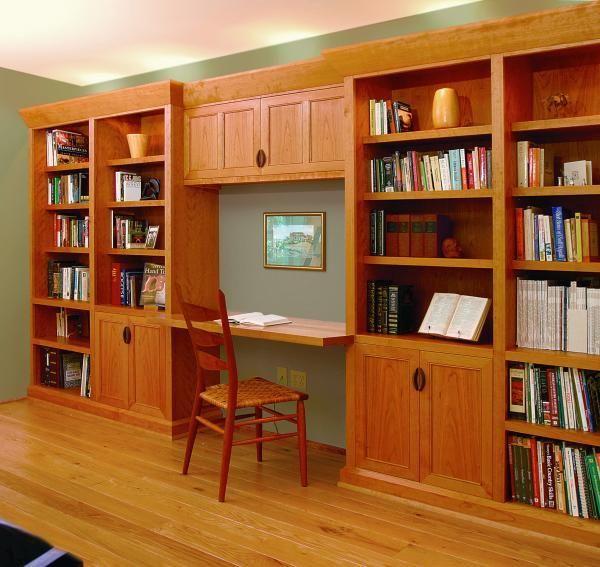 Built In Desks For Home Office Custom Made Cherry Home Office
