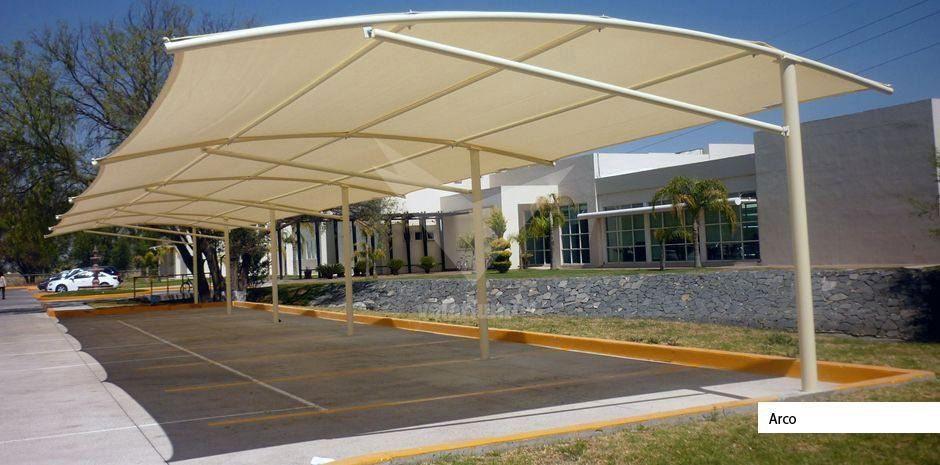 Sombra instaladas por personal capacitado velarium sol proteccion estacionamientos - Toldos para cocheras ...