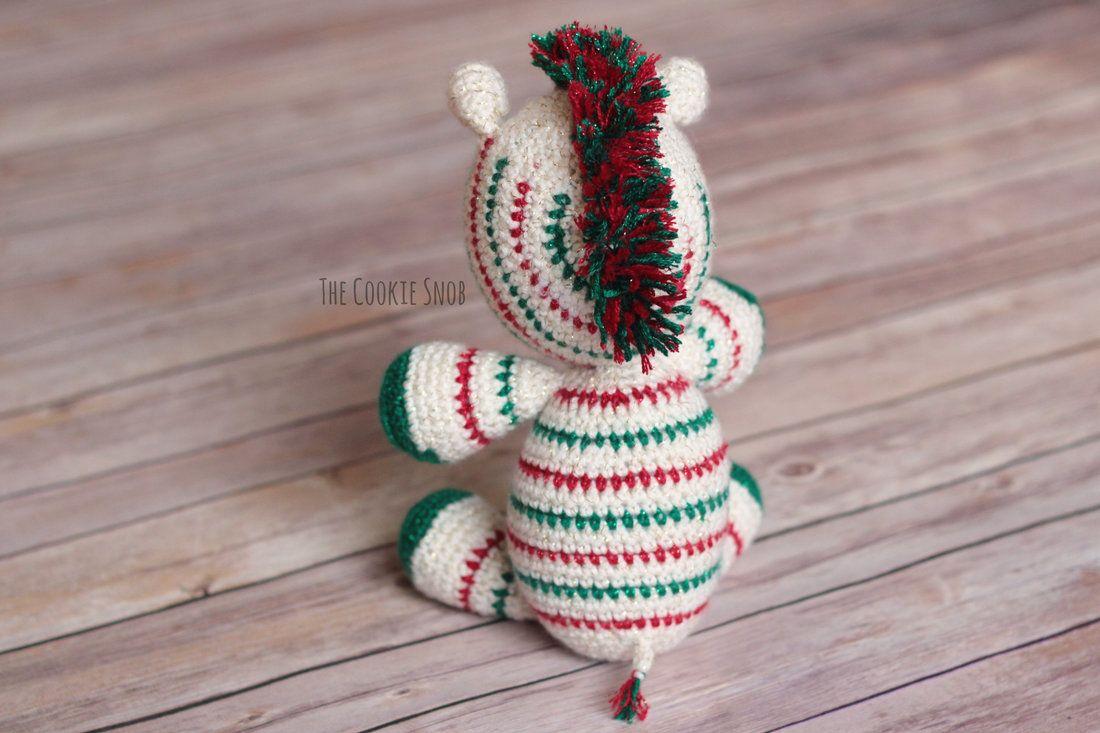 Patrón de ganchillo gratis Navidad cebra | tejido | Pinterest ...