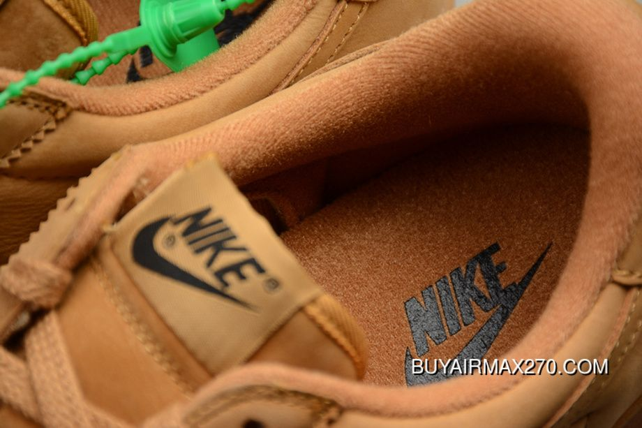 a1b39f439c50 Nike Bruin QS Low Retro Casual Leather Skateboard Shoes 842956-108 Wheat  Yellow Barley Yellow New Style