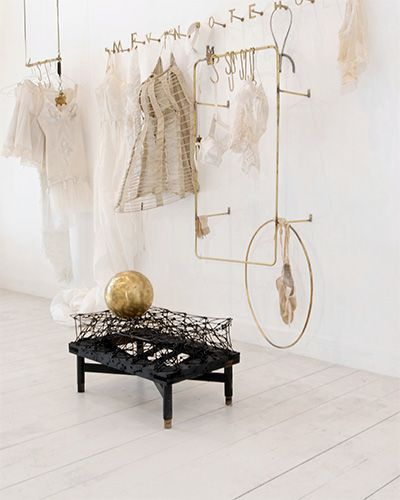 unusual clothing hangers // Fashions at Sharon Brunsher.
