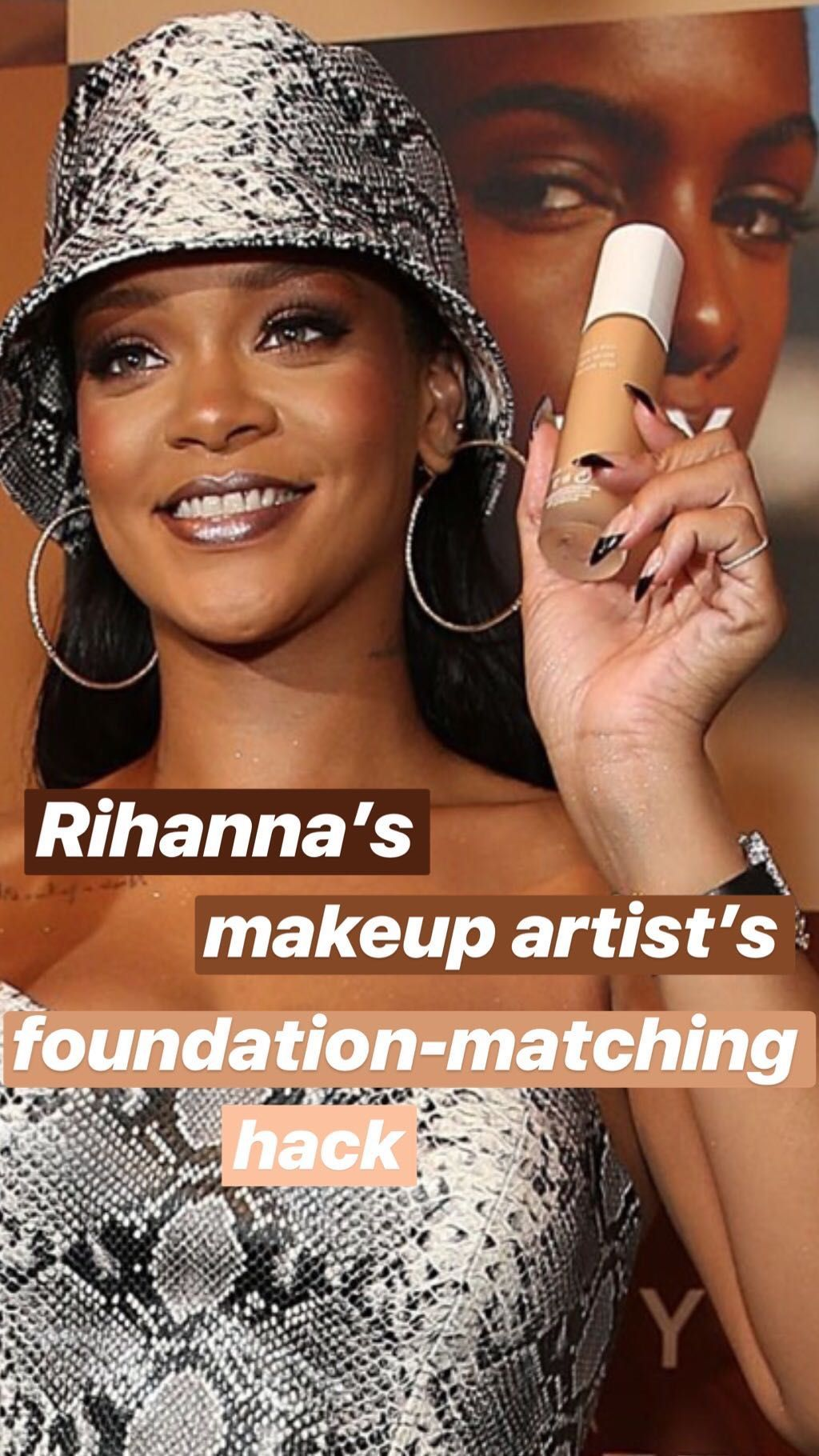Rihanna's makeup artist has a genius 5-second hack for matching foundation to your skin tone -   13 makeup DIY hacks ideas