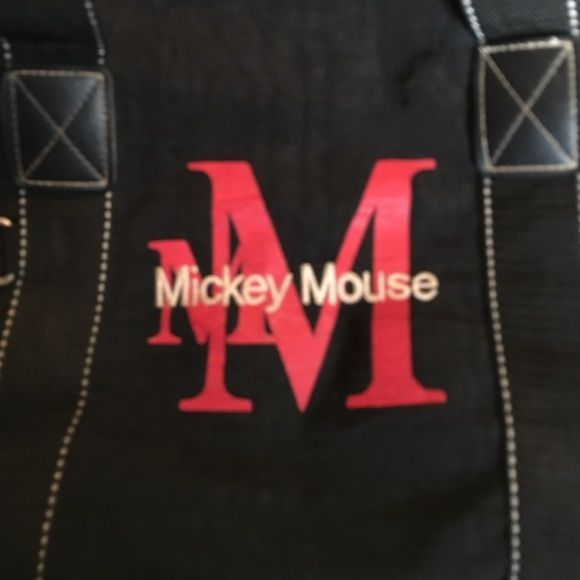 Disney Mickey Mouse Sports bag - good gym bag Disney Mickey Mouse Sports bag - bought at Disney World. Price reflects small fraying (not ripped). Disney Bags Travel Bags