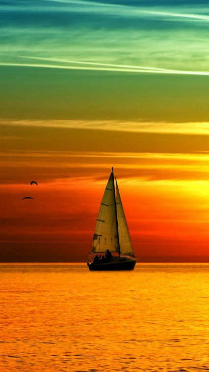Sailboat Sunset. It Is Amazing How Many Times You See It
