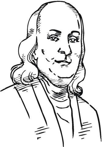 Benjamin Franklin Dibujo para colorear | Dibujos colorear ...