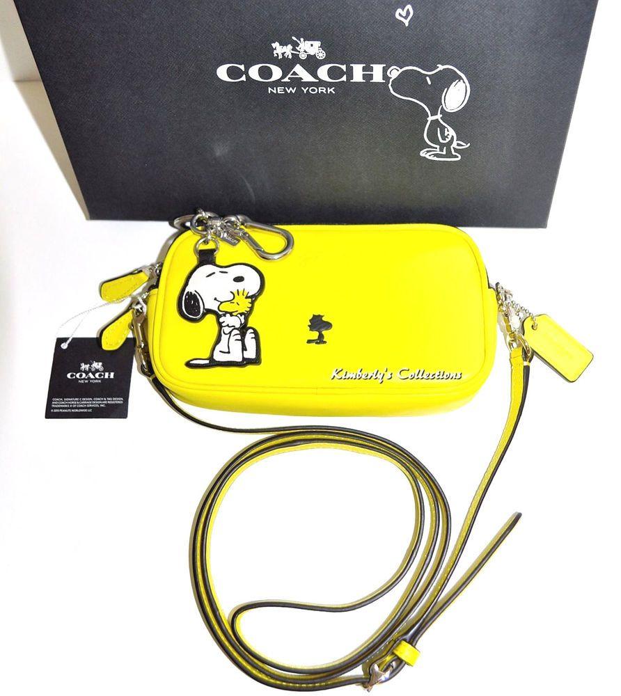 381fd0396257 COACH X SNOOPY Limited Edition WOODSTOCK Crossbody Purse Bag   Key Chain  NWT  Coach  CrossBodyPouchClutchShoulderBag