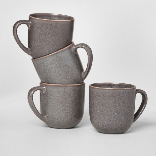Tilley Stoneware Mugs 16.5oz Black - Set of 4 - Project 62 ...