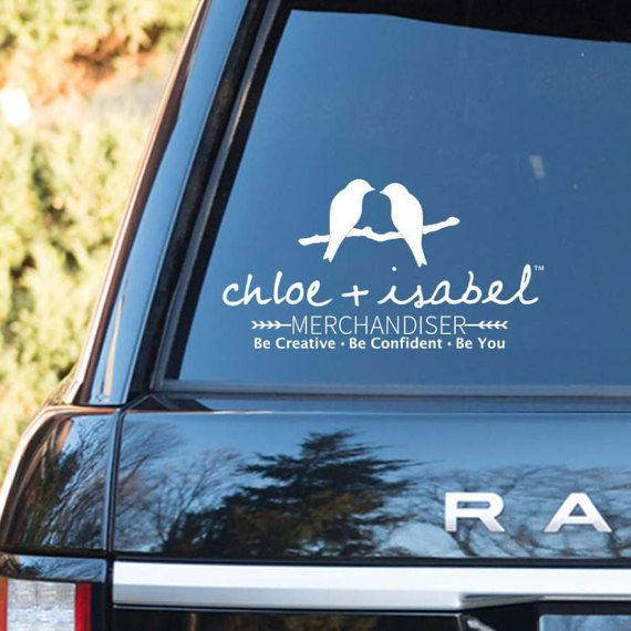 Chloe and isabel vinyl car decal advertise your business while you drive around