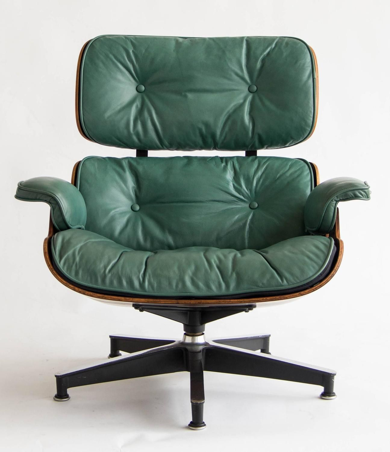 Miraculous Early Special Order Green Leather Rosewood Eames Lounge Uwap Interior Chair Design Uwaporg
