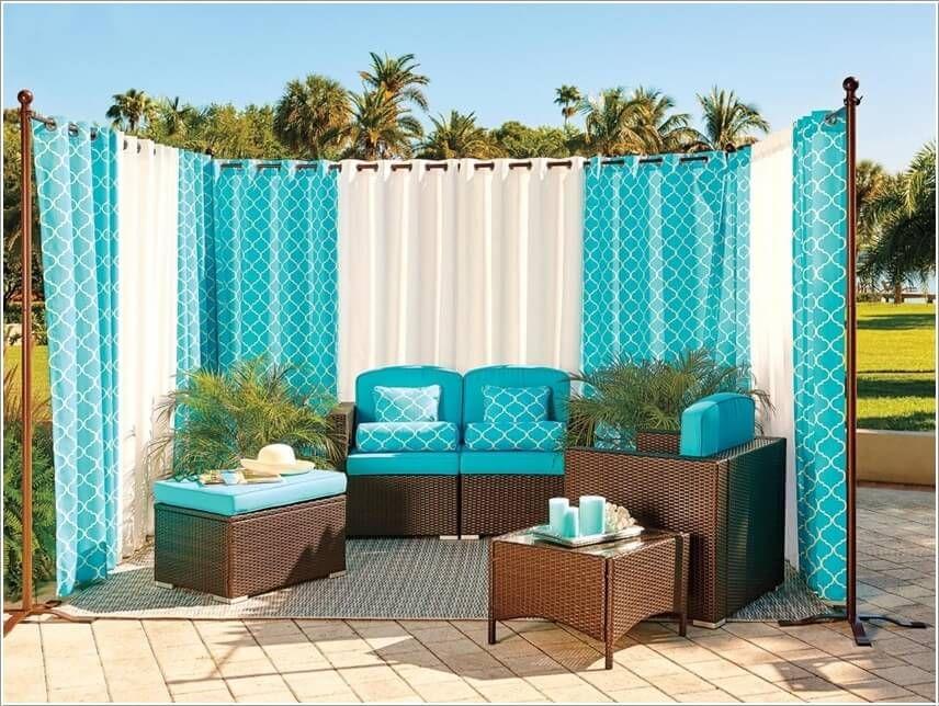 Diy Outdoor Privacy Curtains Curtain Menzilperde Net