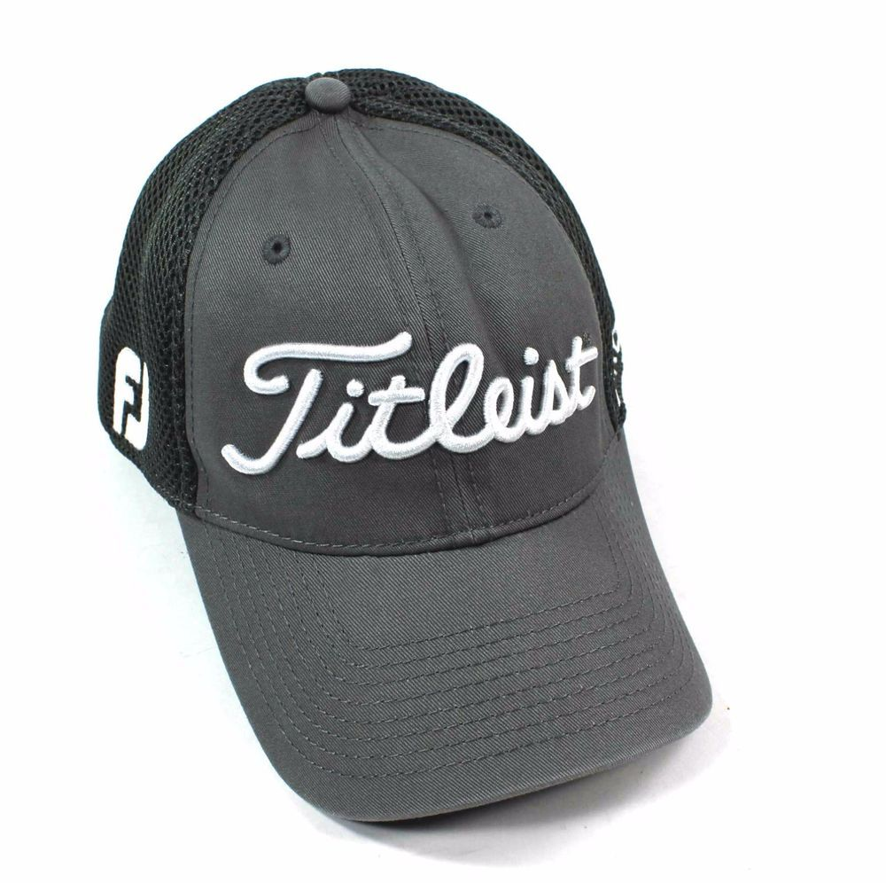 TITLEIST Footjoy Pro V1 Mesh New Era Hat Golf Baseball Cap Size L XL  White Gray  Titleist  BaseballCap e127796723d