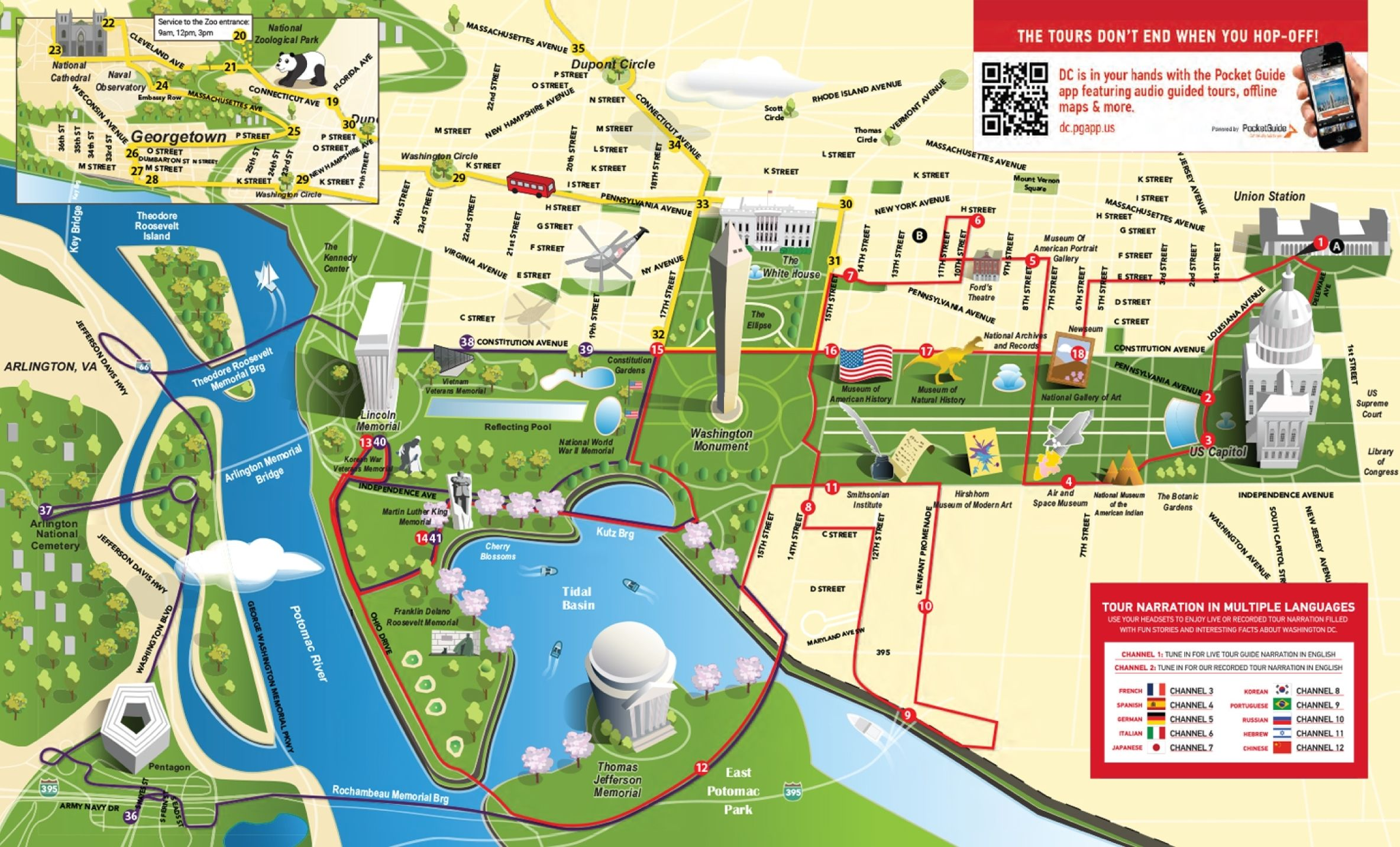 Map Of Tourist Attractions In Washington Dc Washington Dc