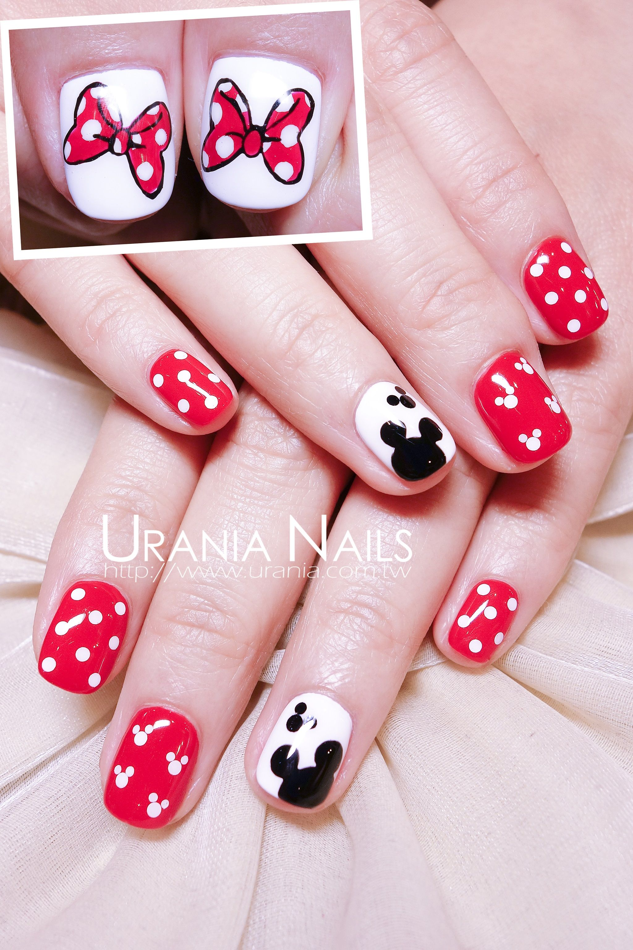 Mickey & Minnie Mouse | Nail Art | Pinterest