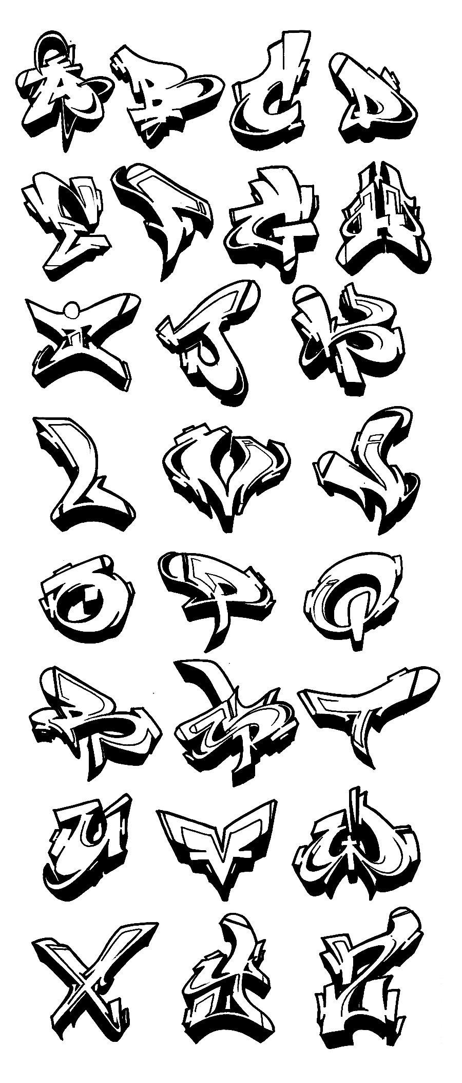 Resultado de imagen para letras graffiti urbano abecedario