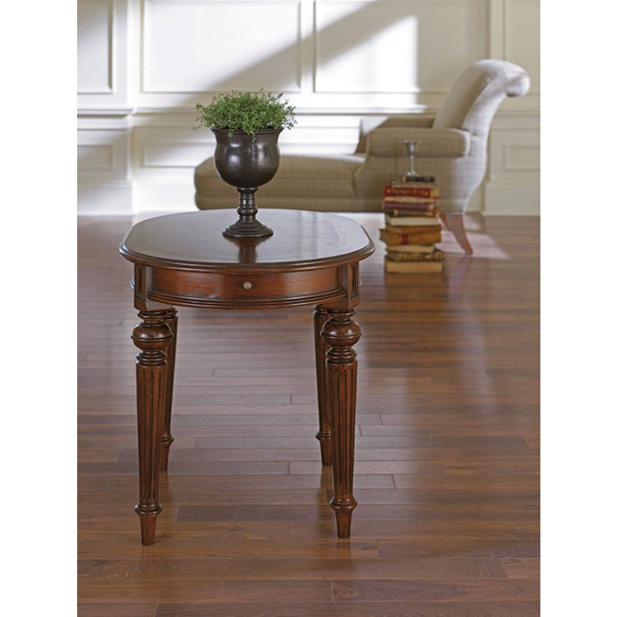 Thomasville Fredericksburg Oval End Table Shelter End
