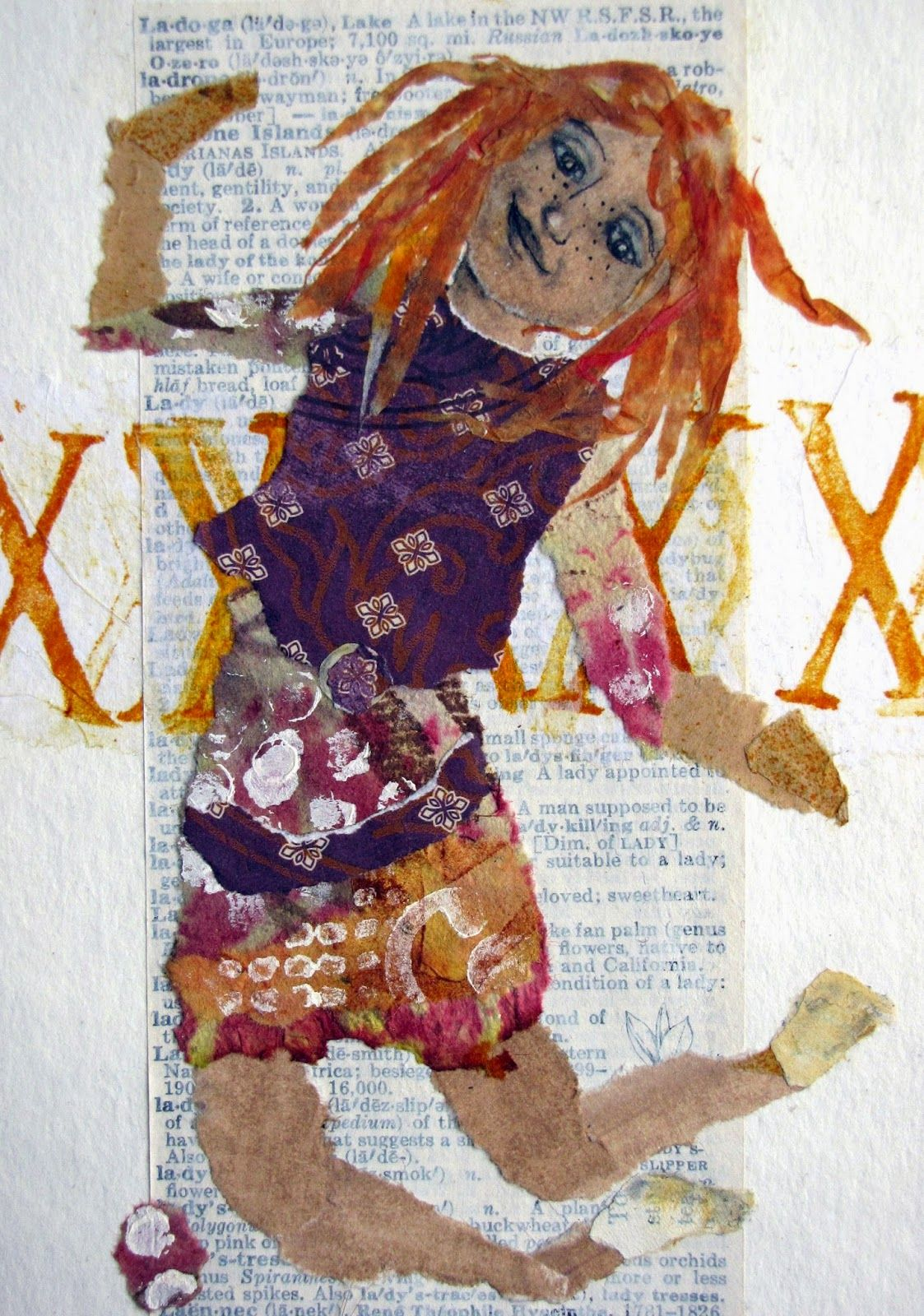 Letting in the Light: For the Love of Play. Collage on book text background - LOVE!