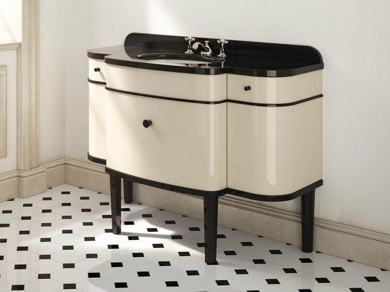 47 Deco Lacquered Single Vanity Unit Music Devon Devon Art Deco Bathroom Vanity Art Deco Bathroom Art Deco Furniture