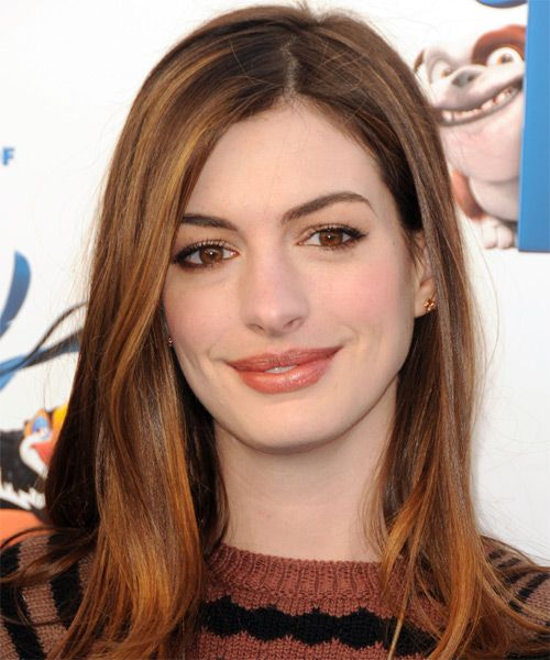 Anne Hathaway Long Straight Formal Hairstyle