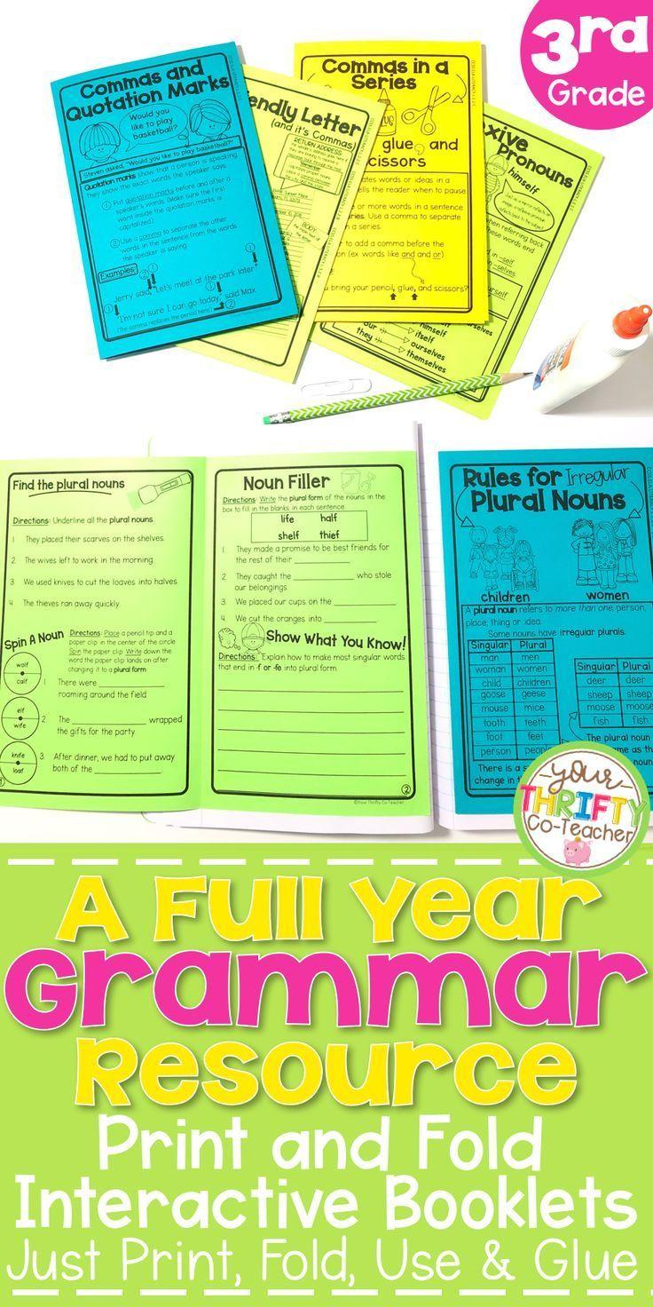 MEGA BUNDLE Grammar Print & Fold Interactive Notebook