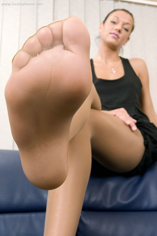 Beauty nylon feet