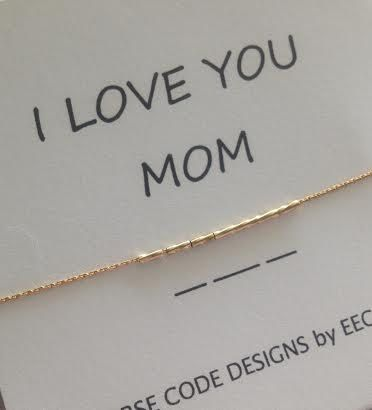 I Love You Mom Morse Code Bracelet Customize This Mama Momma Etsy Morse Code Bracelet I Love You Mom Love You Mom