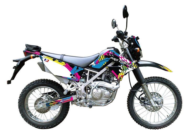 Stiker Modifikasi Kawasaki KLX