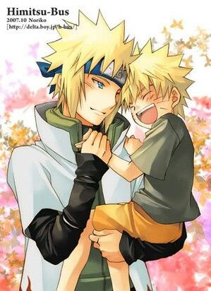 Baby naruto and dad