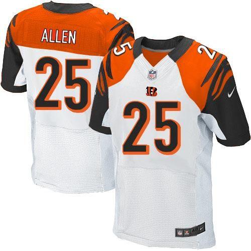05e26aed4 Nike NFL Cincinnati Bengals  25 Jason Allen Elite White Road Jersey Sale