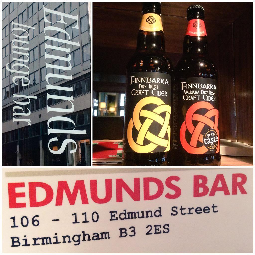 At Edmunds Bar, Birmingham, UK Finnbarra Irish cider