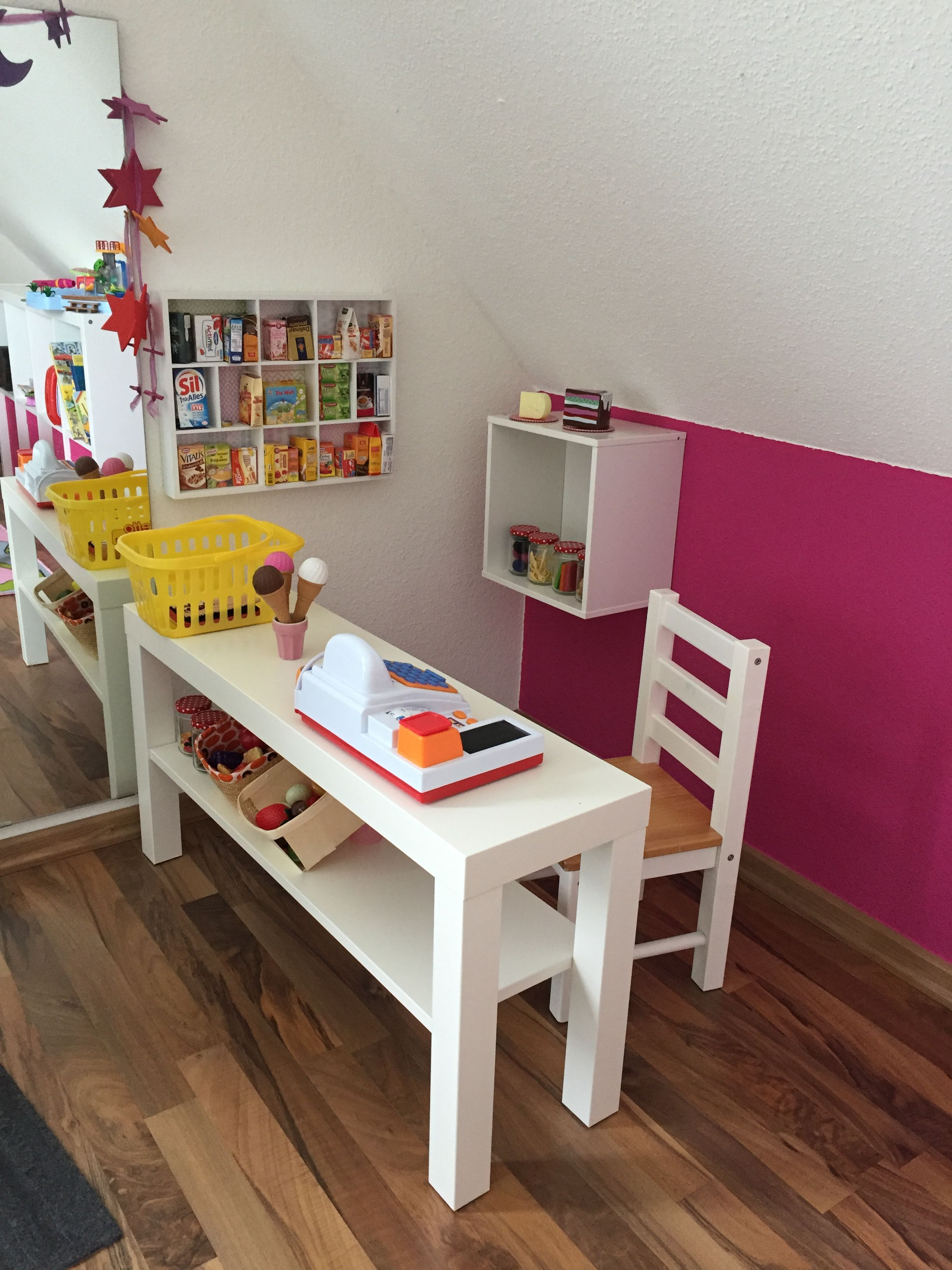 Diy Kaufladen Mit Ikea Tv Bank Lack Als Ladentheke Kids Room