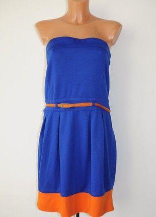 Kup Moj Przedmiot Na Vintedpl Http Www Vinted Pl Damska Odziez Sukienki Bez Ramiaczek 21009461 House Kobaltowo Orange Sukienk Dresses Summer Dresses Fashion