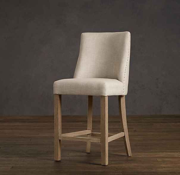 upholstered counter stools canada swivel with arms kitchen french stool bar restoration hardware