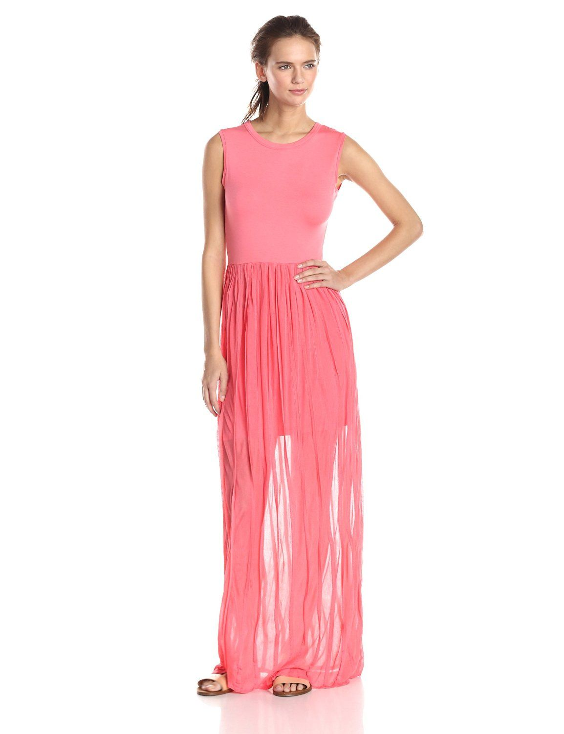 Carnival Ruffle Sleeveless Maxi Dress by French Connection
