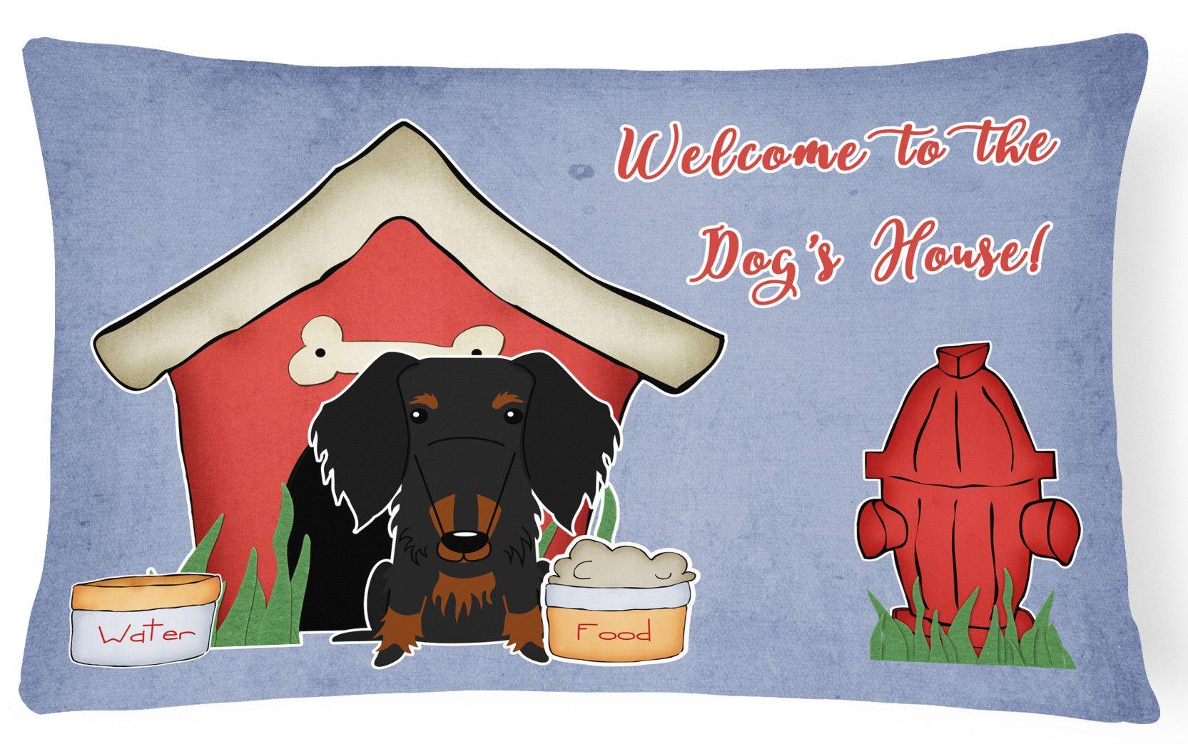 Dog House Indoor/Outdoor Lumbar Pillow