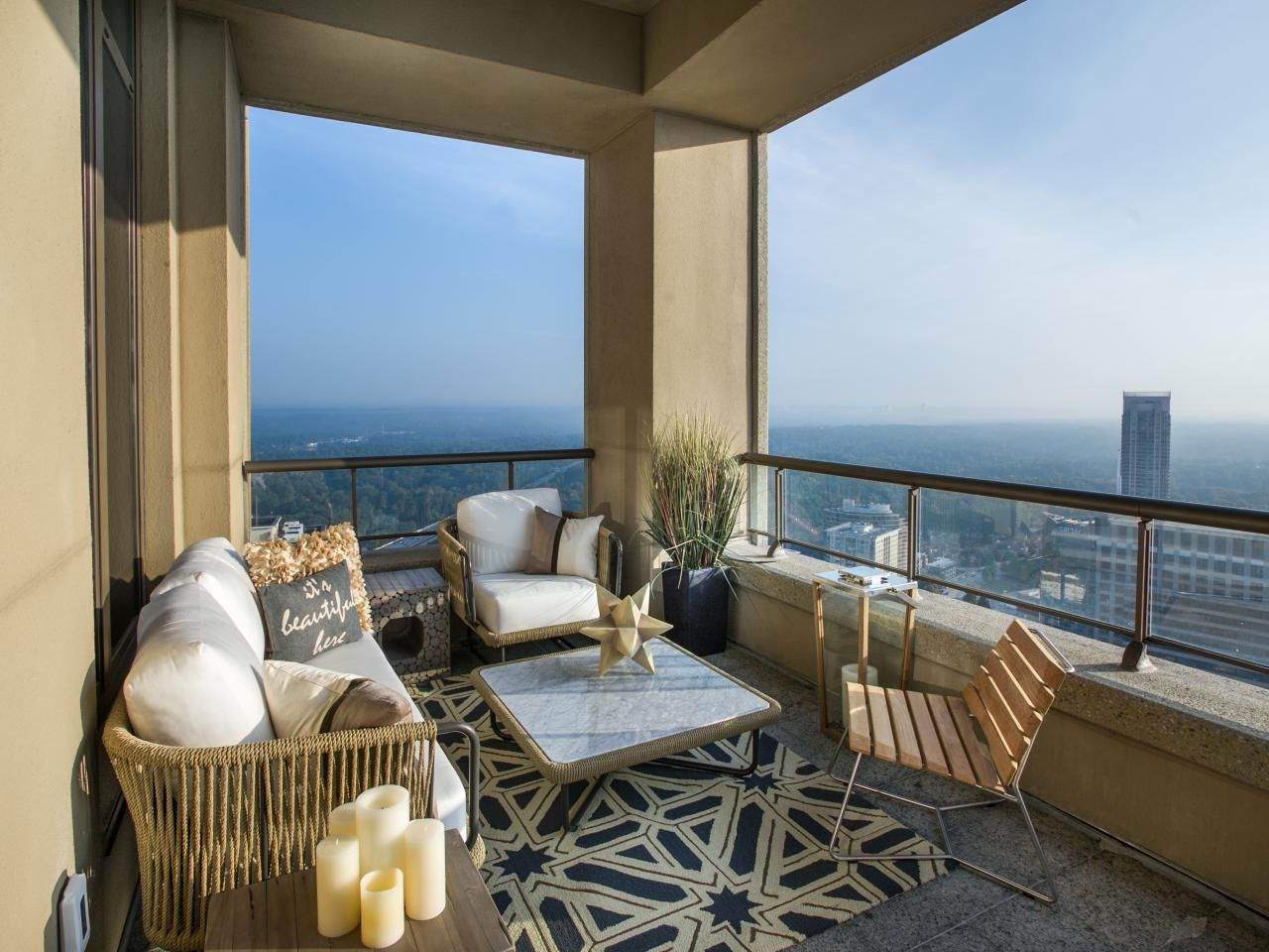 Balcony Pictures From HGTV Urban Oasis 2014 | Living room ... on Urban Living Outdoor id=19324