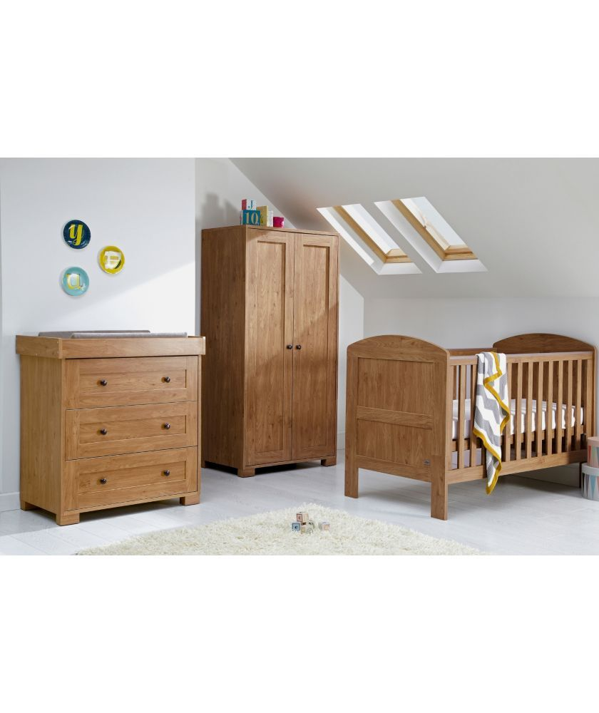 Mamas Papas Harrow 3 Piece Nursery Set Dark Oak At Argos Co