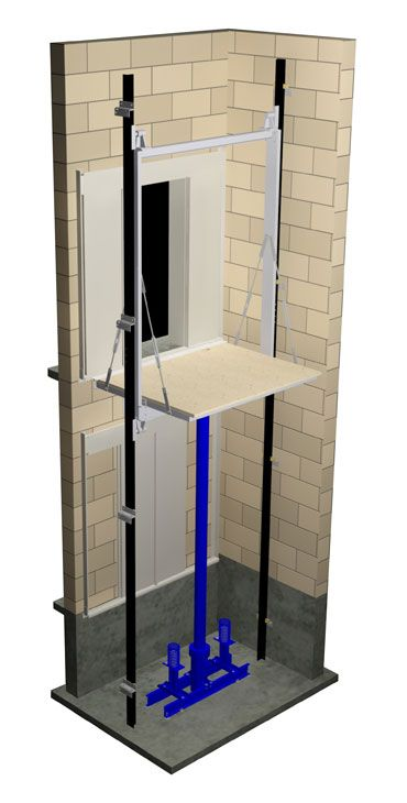 Small Hydraulic Lift System : Elevator hydraulic one jack piston in ground