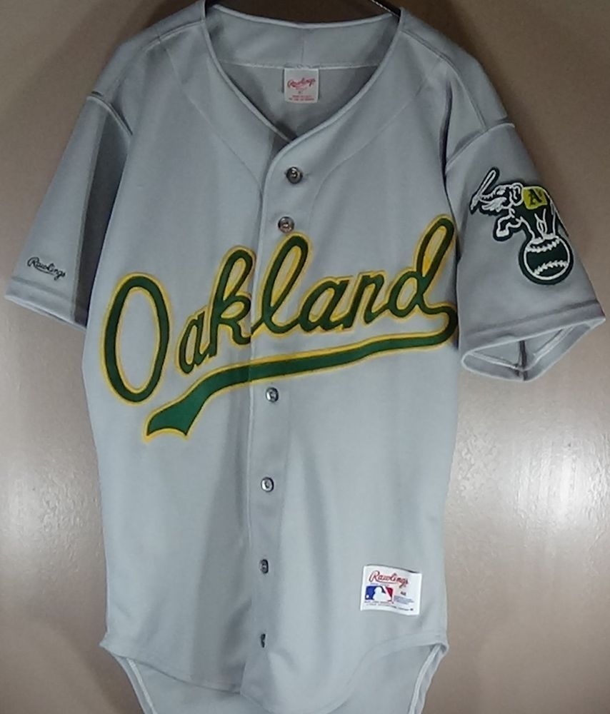 low cost 2625b 98012 OAKLAND A'S RUSSELL AUTHENTIC MLB VINTAGE RAWLINGS GREY ROAD ...