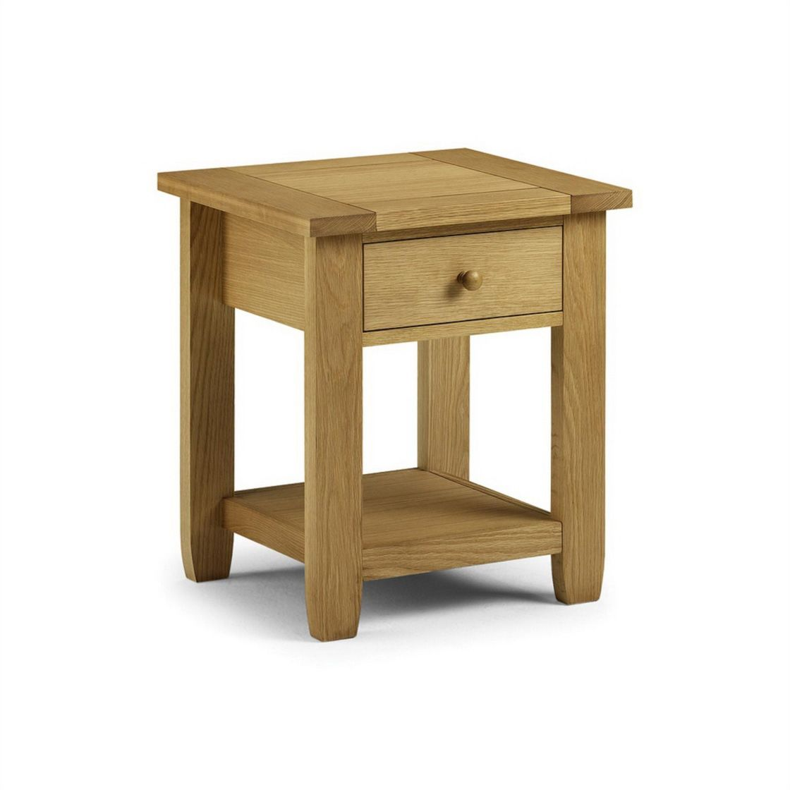 Furniture, The Extraordinary Light Brown Colour In The Perfect Julian Bowen  Lyndhurst Single Drawer Bedside Table: The Simple Brown Narrow N.