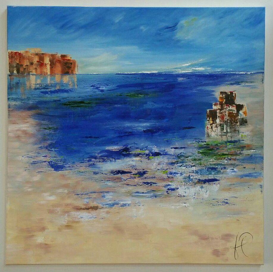 Reflets Huile sur toile N63 80x80
