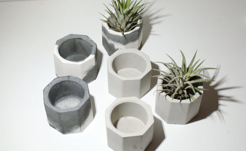 Concrete Planters/ Air Plant Holder/Succulent Planter/Gray Planters ...