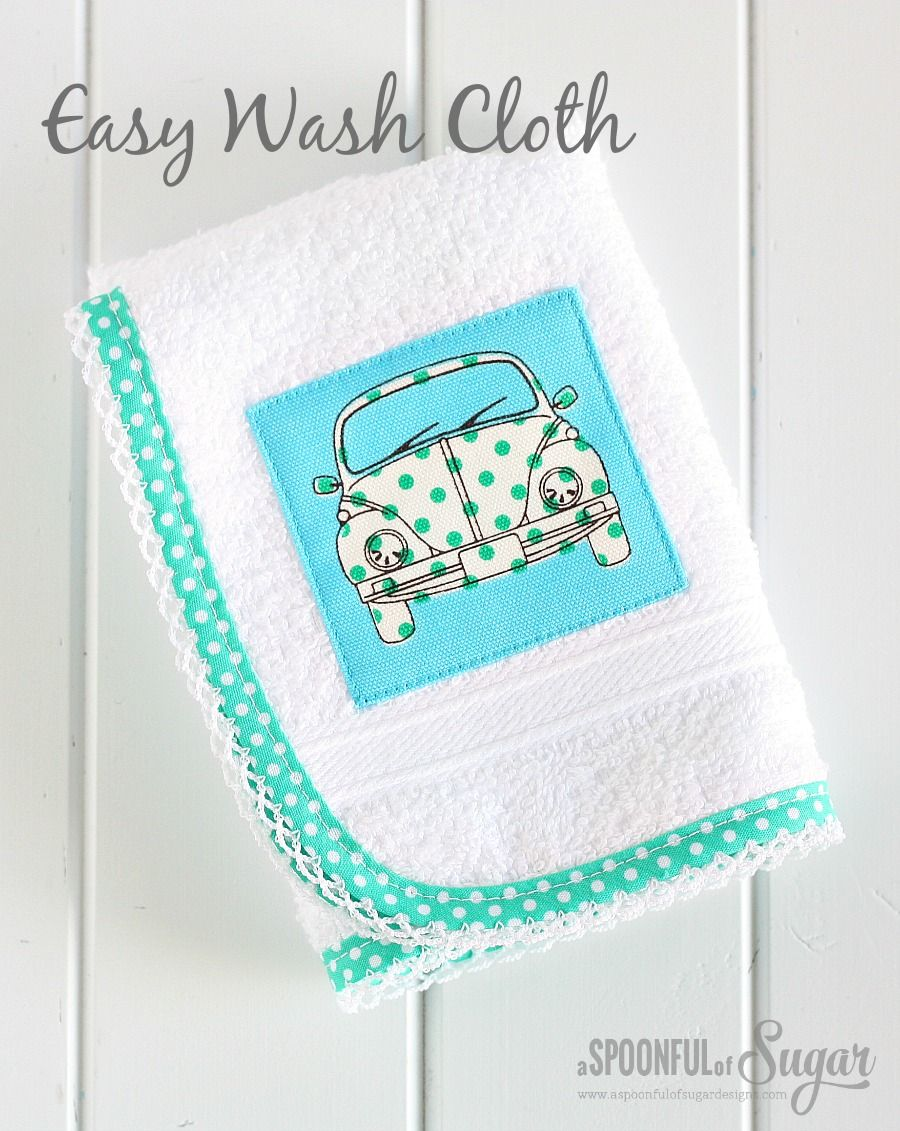Sew an easy wash cloth for a gift - 30 Minute craft by A Spoonful of ...