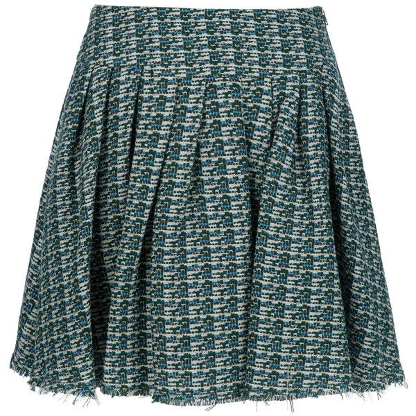GIRL. BY BAND OF OUTSIDERS Pleated tweed skirt ($300) ❤ liked on Polyvore