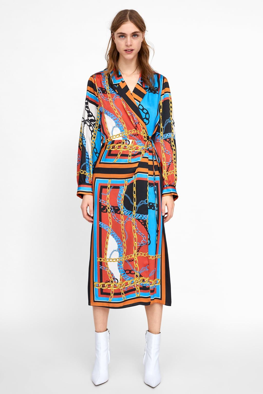 92045b72 Image 1 of CHAIN PRINT DRESS from Zara | Projects to try in 2019 ...