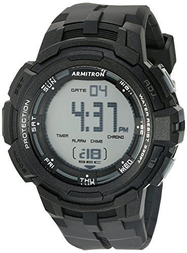 c00e9a024584 Armitron Sport Mens 408373BLK Digital Chronograph Black Resin Strap Watch  -- Learn more by visiting the image link.Note:It is affiliate link to  Amazon.