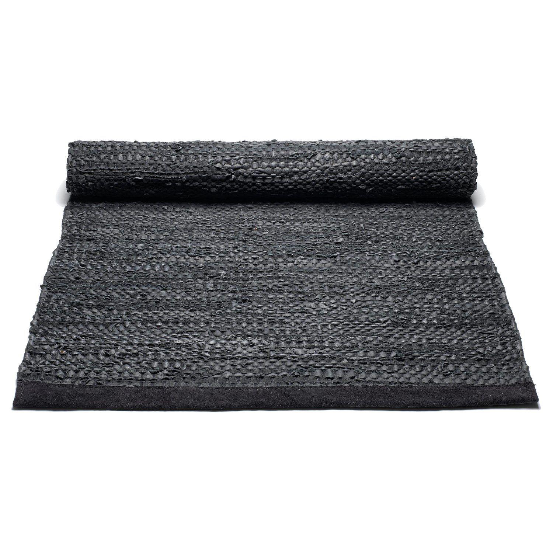 Leather teppe med kant, svart i gruppen Tepper / Tepper hos ROOM21.no (1023732r)