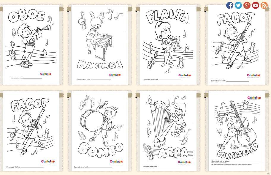 fichas identificação de instrumentos musicais - Pesquisa Google ...